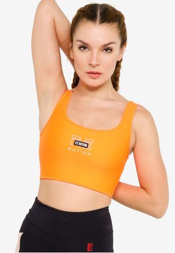 P.E Nation orange Grand Stand Sports Bra 66F53USD11856DGS_1