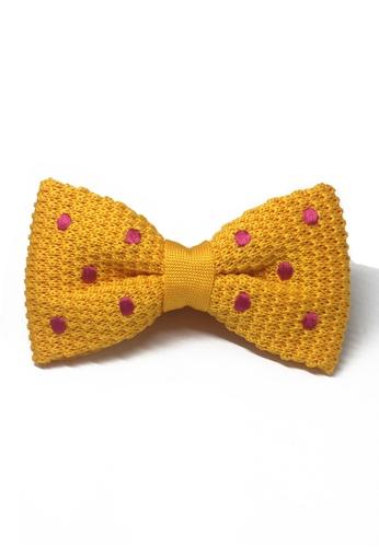 Splice Cufflinks orange Webbed Series Pink Polka Dots Light Orange Knitted Bow Tie SP744AC10UANSG_1