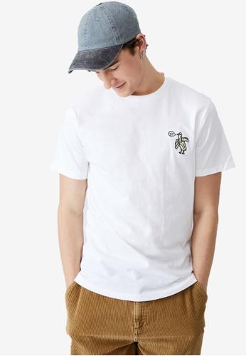 Cotton On white Tbar Art T-Shirt B9849AA440D180GS_1