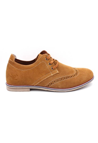midzone brown Leather Casual Lace Up MI949SH52YNRMY_1