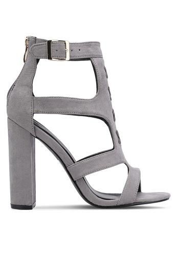 Something Borrowed grey Cut Out Block Heels 585C6ZZ14C83D4GS_1