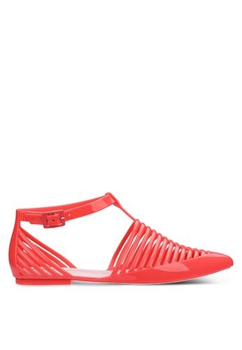 Melissa 多色 踝帶平底鞋 2CBBASH2C156EAGS_1