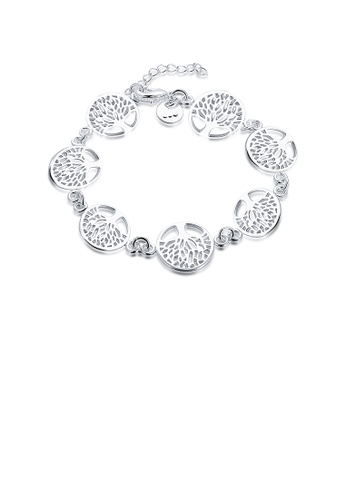 Glamorousky silver Fashion Tree Of Life Bracelet B6A82AC0C0E3F0GS_1