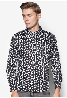L/S Printed Shirt with Inner Details