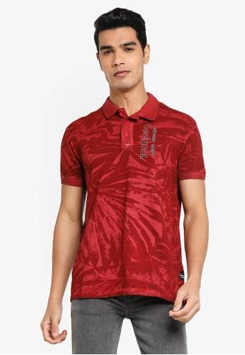 Desigual red Tropical Printed Polo Shirt 83AD0AA7EA0ABBGS_1