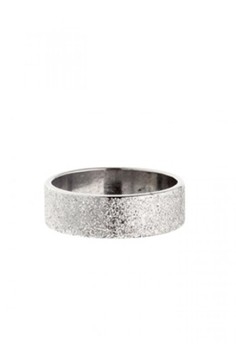 Stainless Steel Glittered Ring Wide