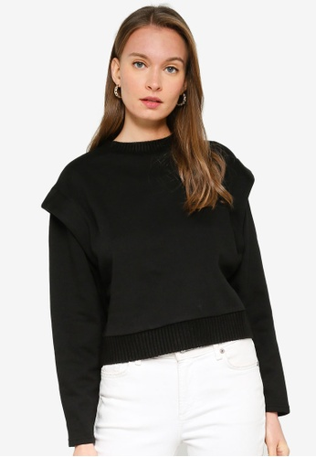 ONLY black Fia Long Sleeve O-Neck Top 83A1AAA3CD88D1GS_1