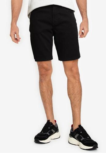 Only & Sons black Denim Bermuda Shorts 43ABEAA156F4C2GS_1