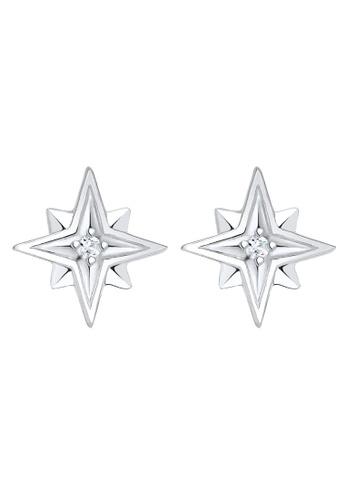Elli Germany silver Elli Germany Earring Star Swarovski Crystals 925 Silver EL474AC0SEVGMY_1