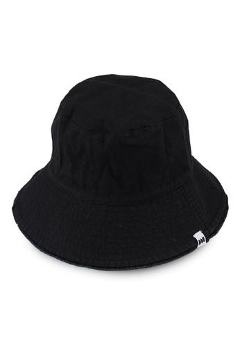 Milliot & Co. black Carson Bucket Hat E7242AC366EDDBGS_1