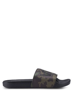 ae793dee0a VANS black and green Camo Sliders 6C09ESH8B545B9GS 1