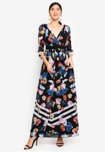 Little Mistress multi Scarf Print Maxi Dress B4505AA9880932GS_1