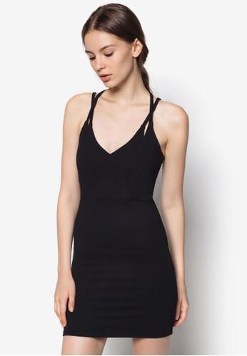 細肩帶交叉低胸連身裙, 服飾, topshop寄台灣洋裝