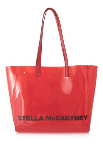 STELLA MCCARTNEY red Stella McCartney Logo Shopper C4C7FAC0A45E6AGS_1