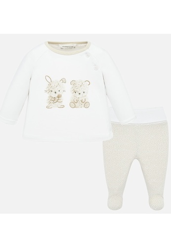 RAISING LITTLE white and brown and multi Vivi Outfit Set C843DKAB8AA40DGS_1