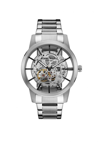 Kenneth Cole silver Kenneth Cole Automatic Movement - Silver Tone Stainless Steel Bracelet (10031273) KE854AC45LGCSG_1