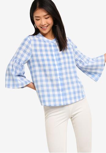 ZALORA BASICS multi Basic Bell Sleeves Shirt 91EE1AA2B5751CGS_1