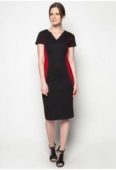 Midi Dress Lace Combi