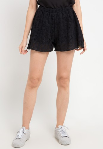 Gaff black Short Pants Lace 9B59FAA23815D1GS_1