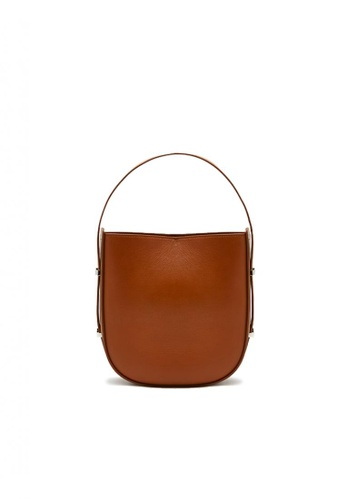 Pazzion brown Bucket Leather Tote E57F4ACE37778AGS_1