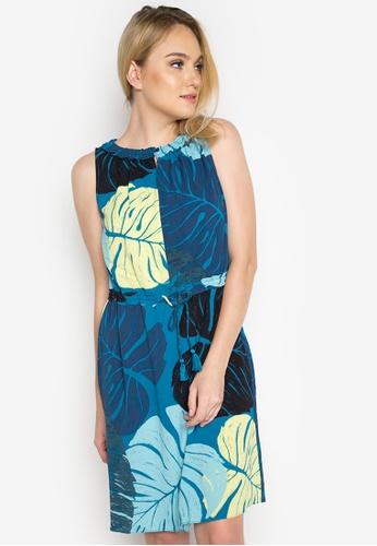 Joe Fresh blue Smocked Neck Dress JO088AA0INU0PH_1