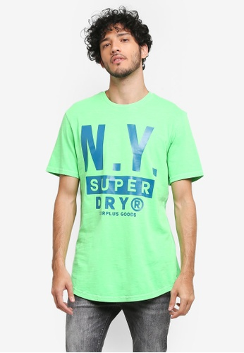 Superdry red Surplus Goods Longline Graphic Tee 79964AAAF0F5F0GS_1