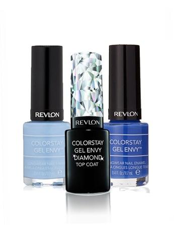 Revlon blue REVLON COLORSTAY GEL ENVY™ LONGWEAR NAIL ENAMEL SET - Gel Diamond Top Coat™ + WILD CARD+ LOVESTRUCK RE737BE22CXPSG_1