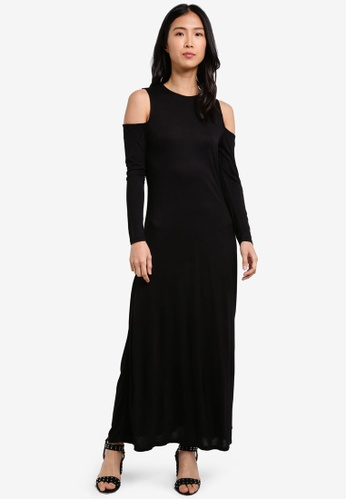 Cotton On black Sea Cleo Cut Out Maxi Dress CO372AA0S4YLMY_1