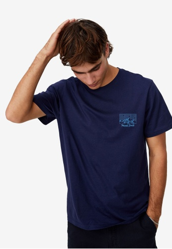 Cotton On navy Tbar Souvenir T-Shirt F7266AAEB1CE6BGS_1