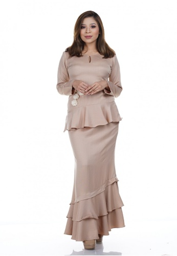 Juwita Kurung from NOVEMBERMATE in Gold and Brown and Beige