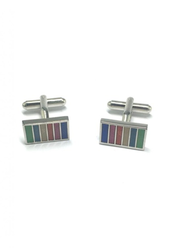 Splice Cufflinks multi Colourful Columns Rectangular Cufflinks 2 SP744AC97FTUSG_1
