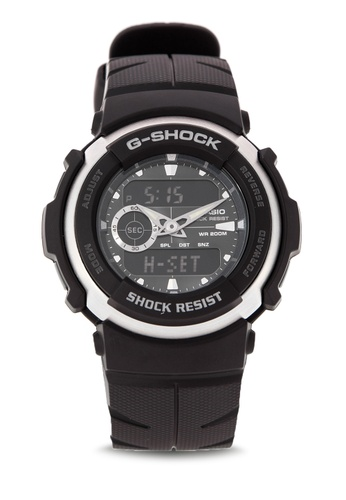 3443327f2086 Shop Casio G-Shock Dual Display Watch G-300-3AVDR Online on ZALORA ...