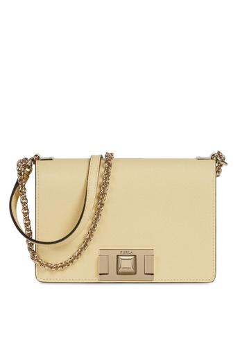 Furla yellow Mimi Mini Crossbody Bag FE629AC717F191GS_1
