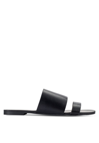 ZALORA black Slider Sandals C6BAASHC53A077GS_1