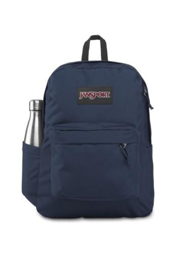 Jansport navy Jansport Unisex SuperBreak Plus Backpack Navy - 26L CC618AC1BCC4C7GS_1