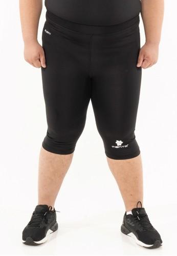Tiento black Tiento Man Compression Big Size Half Pants Black White Celana Legging Leging Selutut Jumbo Pria Olahraga Original B5843AA5F295ADGS_1