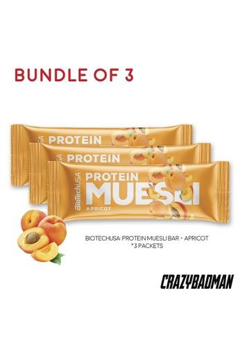 BioTechUSA [Bundle of 3] Protein Muesli Single Bar - Apricot 19483ES3BB9D86GS_1