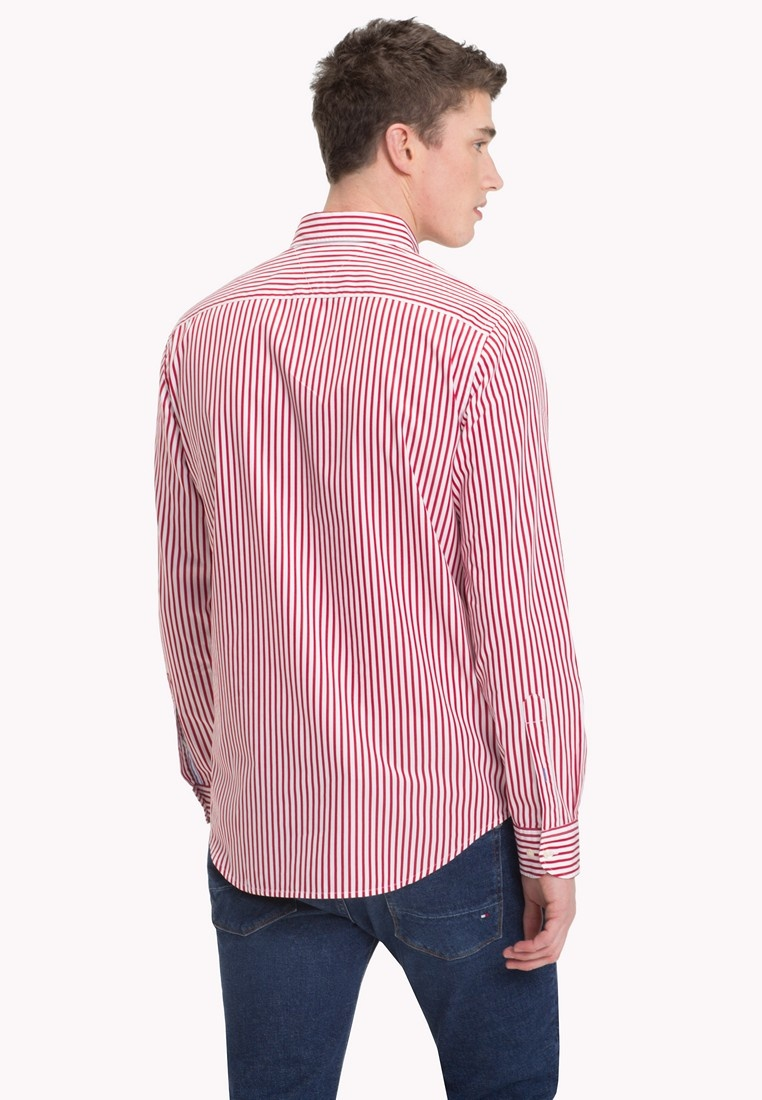 Tommy Red Bright White SHIRT STRIPED Hilfiger CLASSIC Haute SfcWzpwWq
