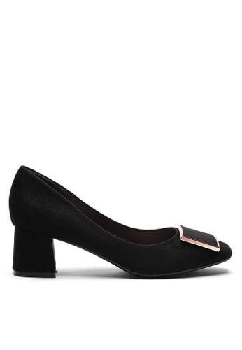 Twenty Eight Shoes 5CM Square Buckle Suede Fabric Pumps 1270-53 83337SH835A3DEGS_1