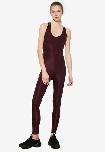 Trendyol purple Cross Back Sports Jumpsuit 057FAAAC3000E7GS_1