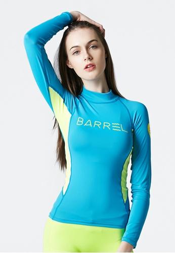 BARREL multi Karen Rashguard Blue/N.yellow 76245USF4FE11CGS_1