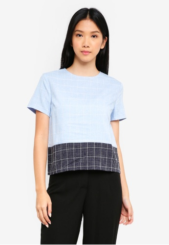 ZALORA BASICS multi Colourblock Boxy Top 1C990AA78FA53BGS_1