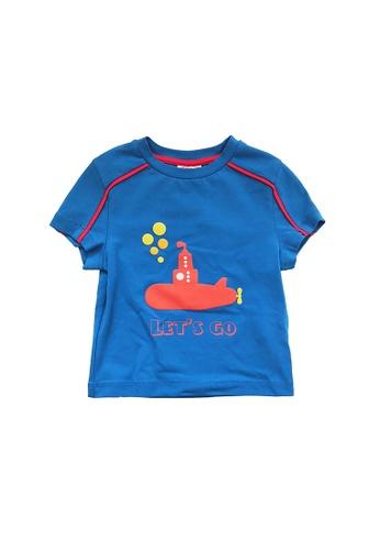Vauva blue Vauva Kooala Boys Submarine Tee - Blue 7B2B5KA4ECEE1BGS_1