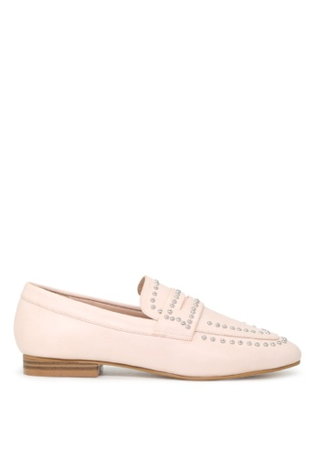 London Rag beige Beryl Suede Loafers 6E568SH4324A16GS_1