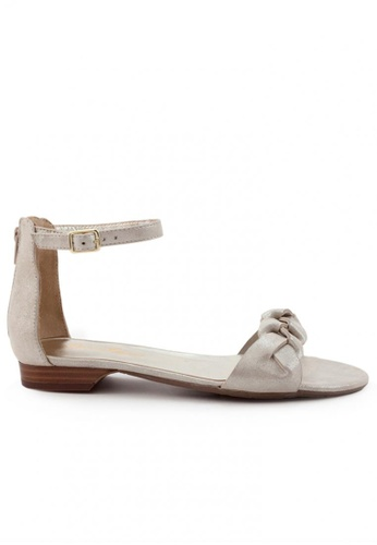 Shu Talk gold Sexy Suede Ankle Straps Low Heel Sandals SH617SH2USEFHK_1