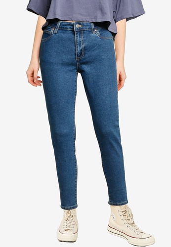 Cotton On blue Mid Rise Cropped Skinny Jeans 45031AAAF3B61CGS_1