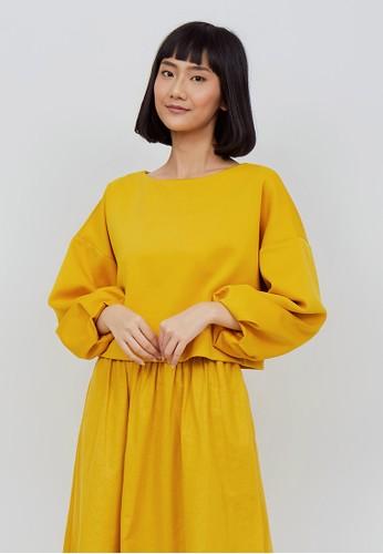 Kimora Kei yellow Kimora Kei Baju Wanita Hikari Top Mango Yellow 91AD9AA8A4E178GS_1