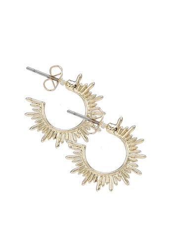Pieces gold Pcjaiky Hoop Earrings D2d D5399ACD6F9B31GS_1