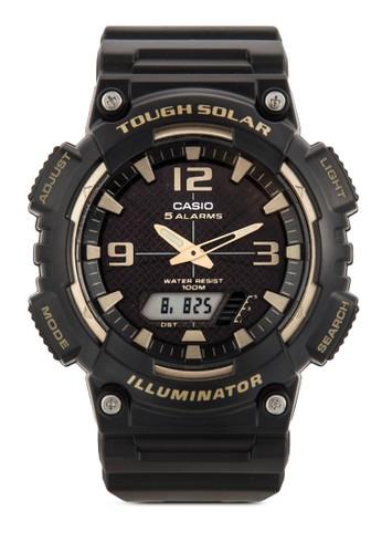 AQesprit旗艦店-S810W-1A3VDF 雙顯示矽膠手錶, 錶類, 飾品配件