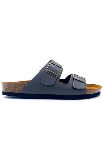 SoleSimple grey Athens - Grey Sandals & Flip Flops AED96SH8664A43GS_1